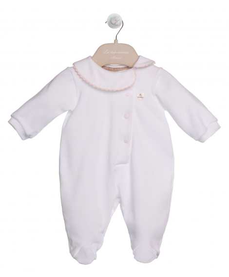 ROMPER SUIT WITH ASYMMETRIC COLLAR