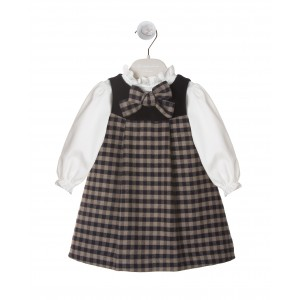 PINAFORE DRESS AND SHIRT