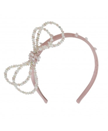 SLIM PINK SILK HEADBAN