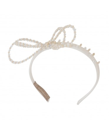 SLIM CREAM AND ANTIQUE PINK HEADBAND