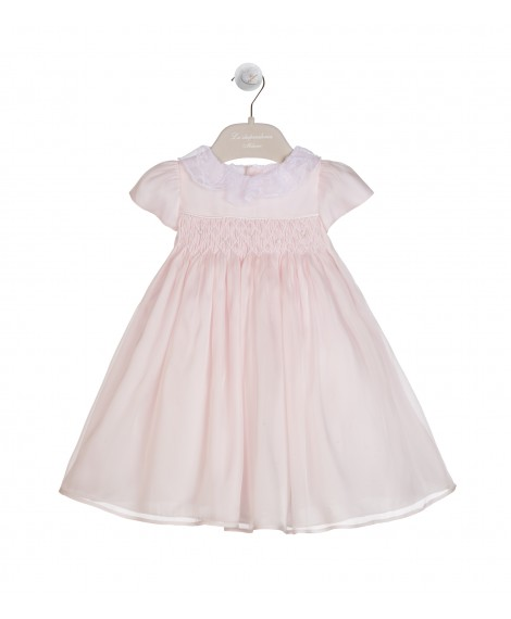 PINK SILK ORGANZA DRESS