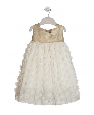 CREAM DRESS WITH MIKADO BODICE