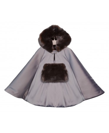 PADDED CAPE WITH HOOD