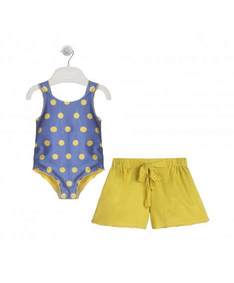 YELLOW AND NAVY SWIM SET