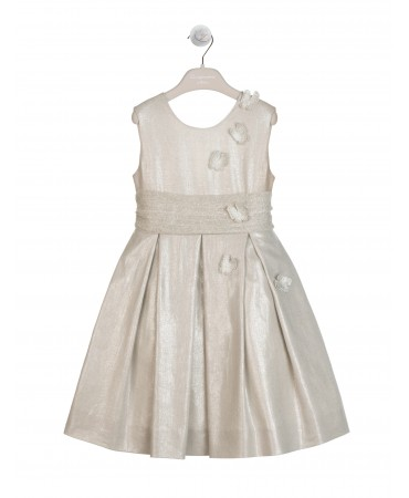 SILVER LUREX LINEN DRESS