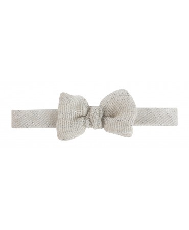 SAND AND SILVER BOW TIE