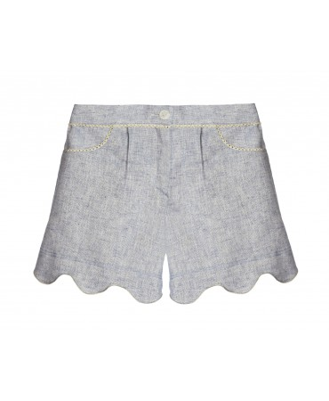 IVORY SHORTS IN LUREX