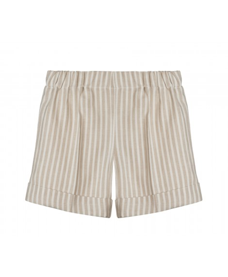 STRIPED SAND BERMUDA SHORTS
