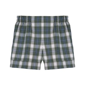 GREEN COTTON TARTAN BERMUDA