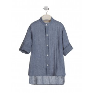 SOFT NAVY TUNIC IN JACQUARD