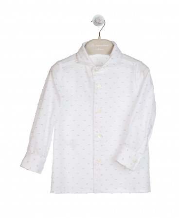 FRENCH COLLAR SHIRT IN WHITE