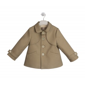 BEIGE SHORT TRENCH COAT