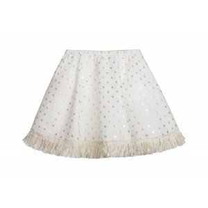 GOLD AND CREAM CIRCLE SKIRT