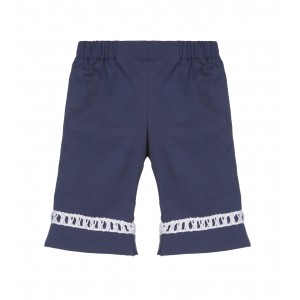 BLUE TROUSERS WITH FLARED ANKLE