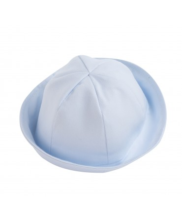 BLUE COTTON PIQUET HAT