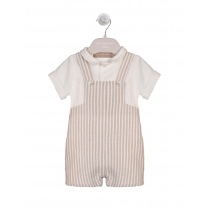 STRIPED SAND DUNGAREES