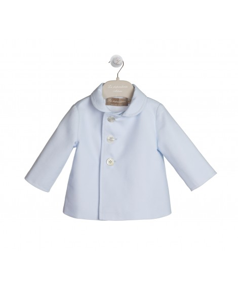 BLUE COTTON PIQUET JACKET
