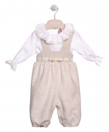 DUNGAREES WITH RIBBON ON WAIST