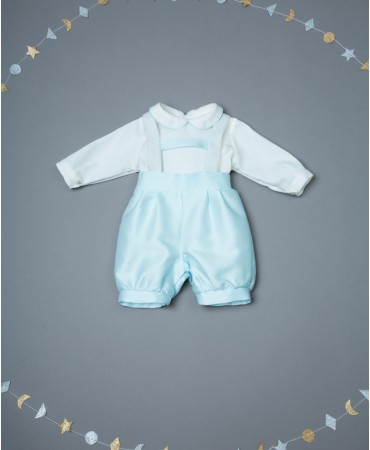 LIGHT BLUE OVERALL SET WITH BRACES