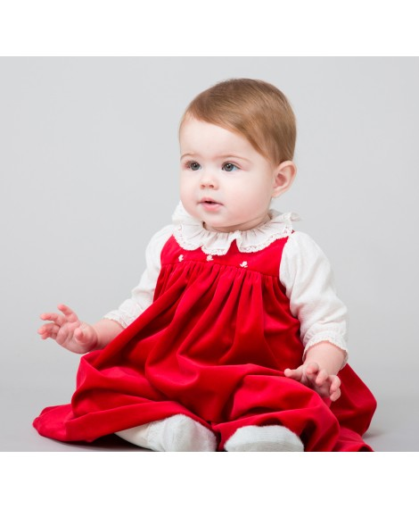 RED DRESS WITH VELENCIENNE LACE