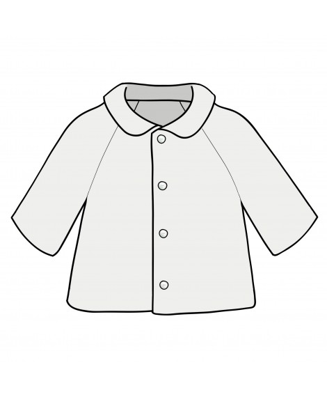 KNITTED CREM JACKET WITH ROUND COLLAR