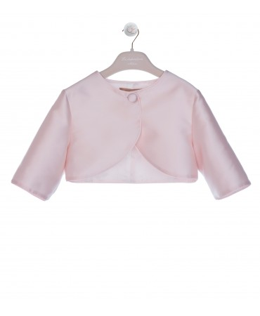 PINK JACKET 3/4 SLEEVE WITH TRIM