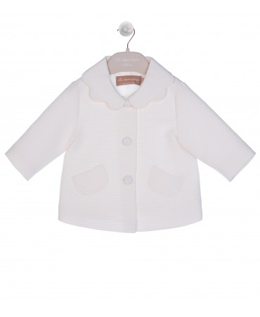 CREAM PETAL COLLAR JACKET