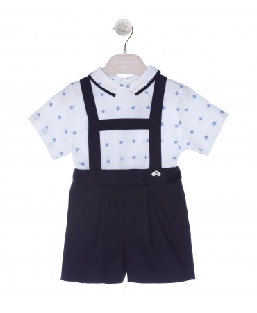 BLUE/WHITE OVERALL SET