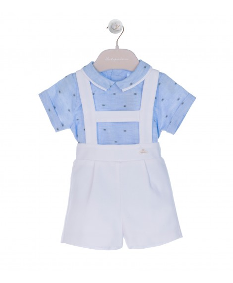BLUE/GREEN/WHITE OVERALL SET