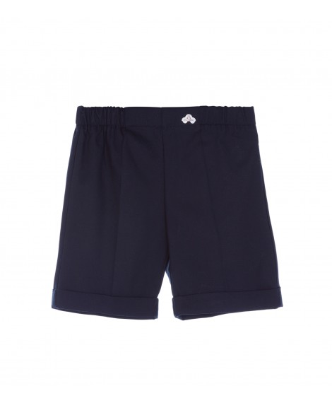 NAVY COTTON BERMUDA