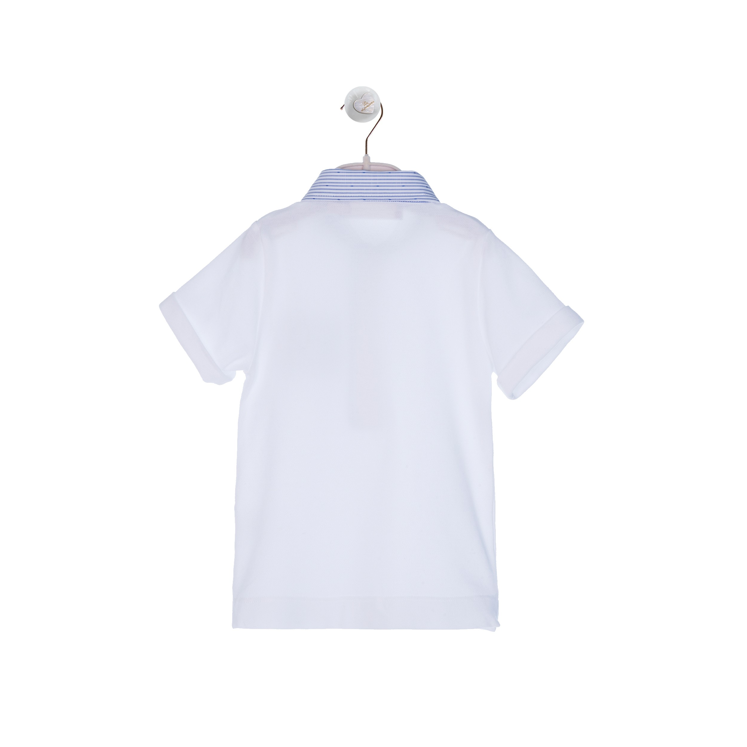 1bb7ce973947e WHITE POLO WITH STRIPPED COLLAR AND NAVY POCKET POLO SHIRTS AND T-SHIRTS