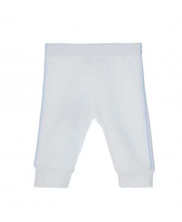 WHITE/LIGHT BLUE JUMPER TROUSERS