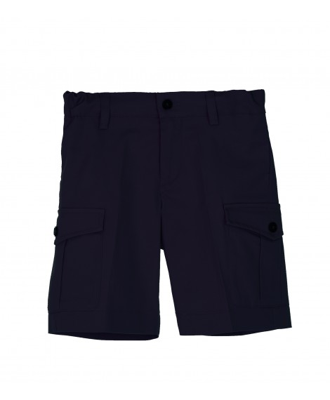 NAVY COTTON CARGO BERMUDA