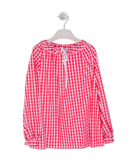 WHITE/RED COULISSE SHIRT