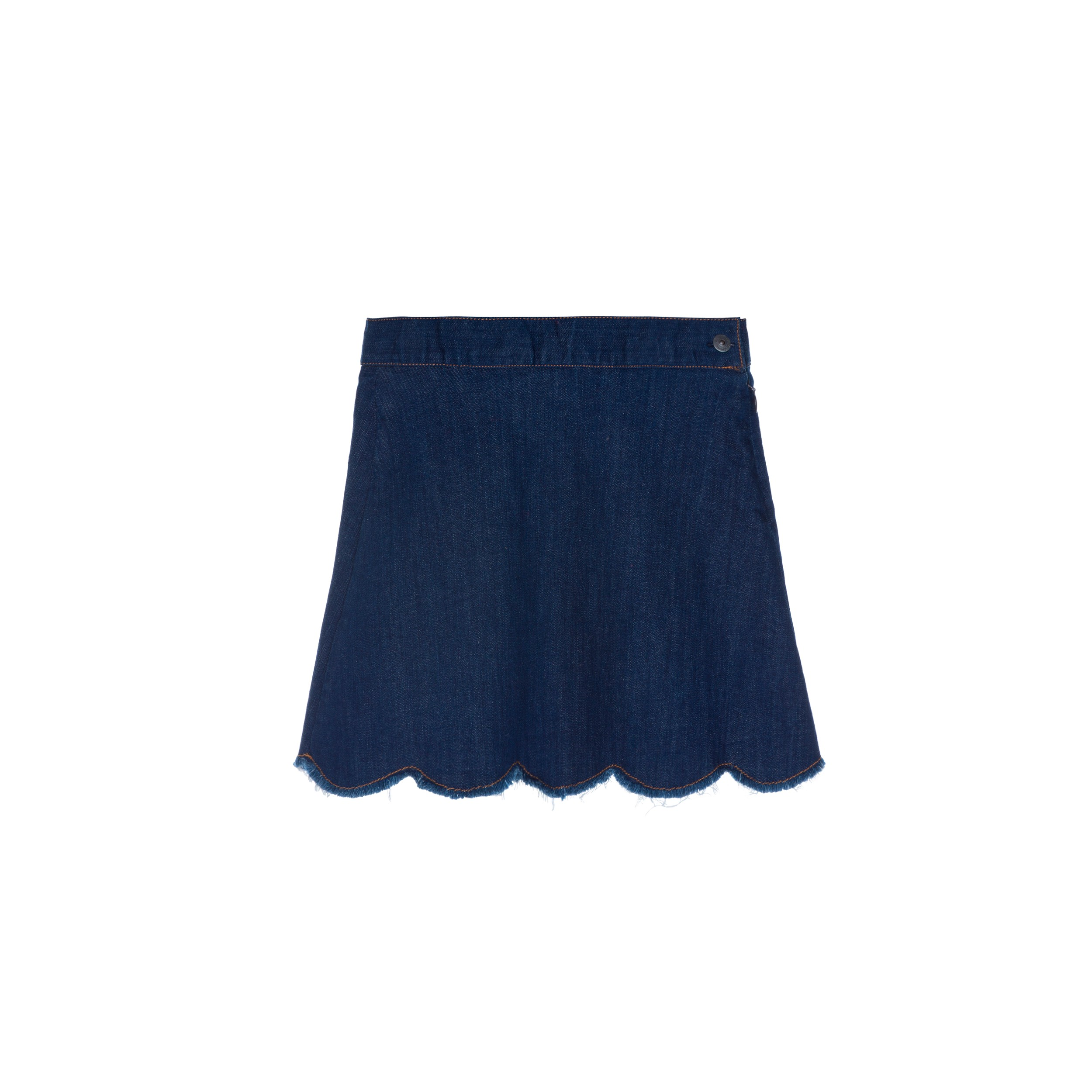 buying cheap sale retailer best service DENIM SKIRT WITH SCALLOPED HEM SKIRTS AND PANTS