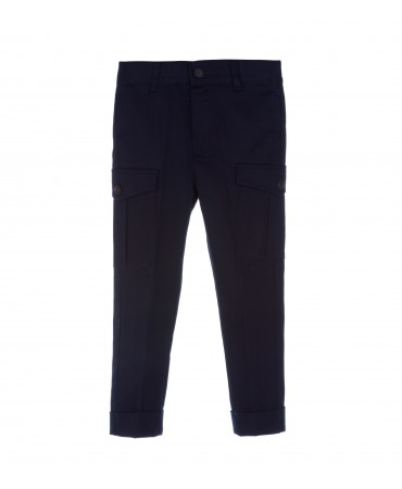 NAVY CARGO TROUSERS