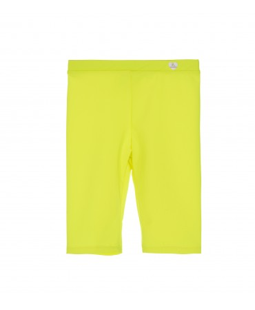 KNEE LENGTH LYCRA YELLOW LEGGINGS