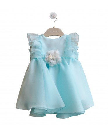 TURQUOISE ORGANZA DRESS