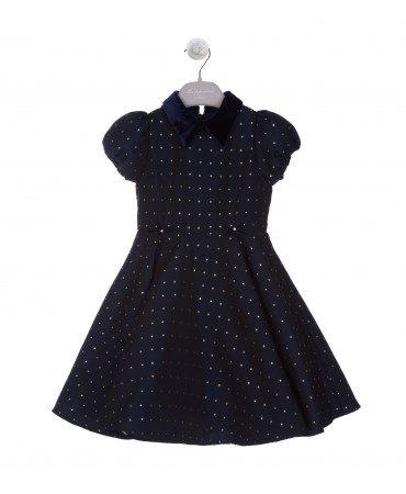 WHEEL NAVY AND GOLD DRESS
