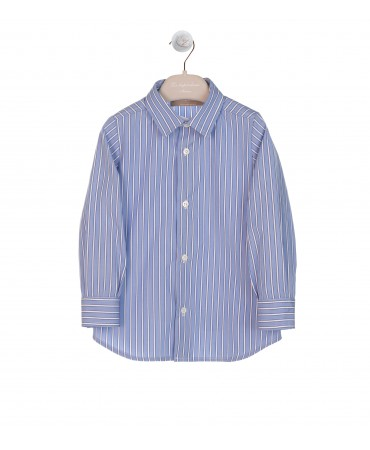 BOYS BLUE STRIPED SHIRT