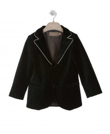 CLASSIC GREEN VELVET JACKET WITH PROFILE
