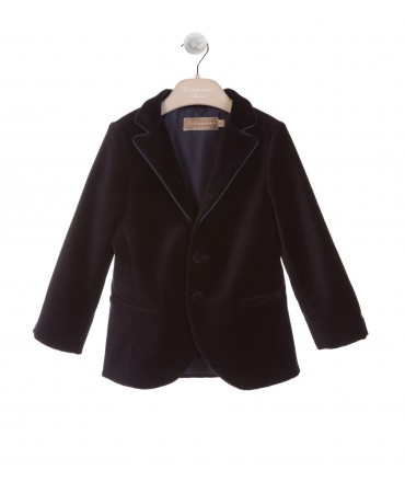 CLASSIC NAVY VELVET JACKET WITH PROFILE