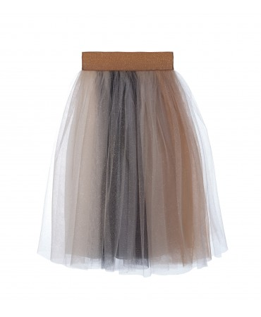 GOLD AND NAVY TULLE SKIRT