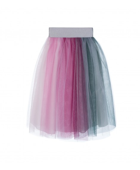 GREEN AND FUCHSIA TULLE SKIRT