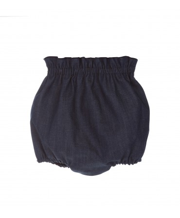 COULOTTE JEANS BABY BLU CON ROUCHE