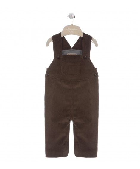 BROWN DUNGAREE WITH POCKET
