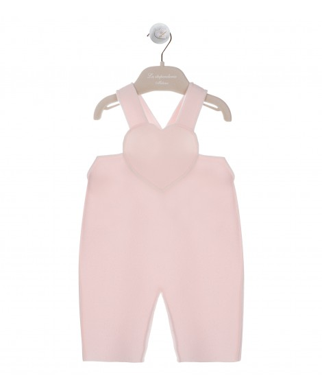 PINK DUNGAREES WITH HEART