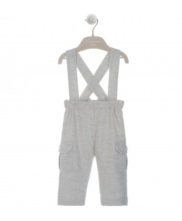 GREY MELANGE TROUSERS WITH BRACES