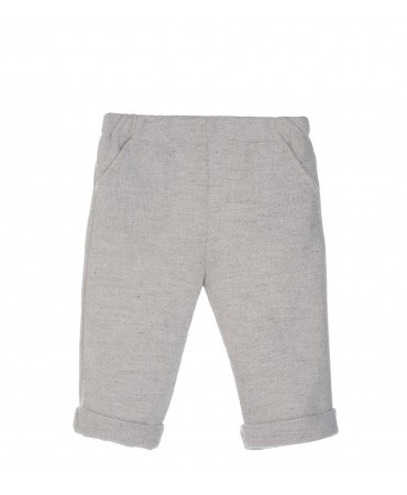 GREY MELANGE WOOL PANTS