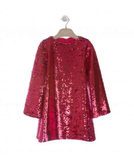 FUCHSIA SEQUIN DRESS